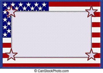 amerykańska bandera, tworzywo, ułożyć