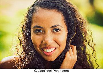 amerykańska kobieta, afrykanin