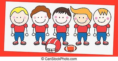 amerykańska piłka nożna, drużyna