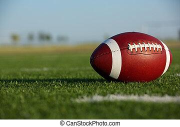 amerykańska piłka nożna, na, przedimek określony przed rzeczownikami, pole