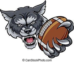 amerykańska piłka nożna, wilk, maskotka