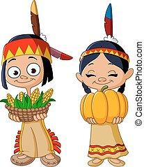 amerykański indianin, dzieci