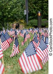 amerykańskie bandery, dzień pamięci