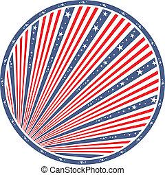 amerykanka, abstrakcyjny, bandera