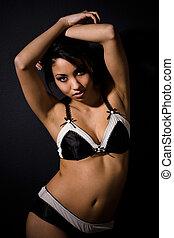 amerykanka, afrykańska kobieta, piękny, sexy