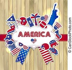amerykanka, elementy, projektować
