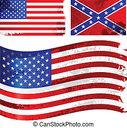 amerykanka, grunge, bandera