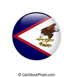 amerykanka, guzik, samoa, bandera