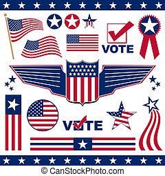 amerykanka, patriotyczny, elementy