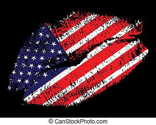 amerykanka, pocałunek