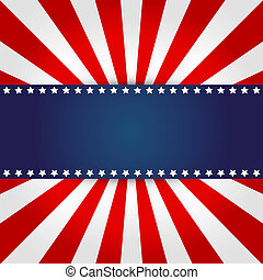 amerykanka, projektować, bandera