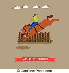 amerykanka, rodeo jeździec, tries, dressage, koń