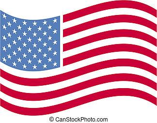 amerykanka, sztuka, bandera, zacisk