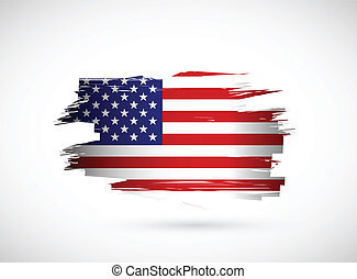 amerykanka, twórczy, bandera, bryzg, projektować, atrament