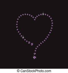 Amethyst Creative Heart Frame