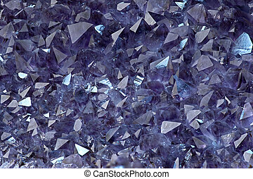 Amethyst crystals - Close up shot of raw Amethyst crystal