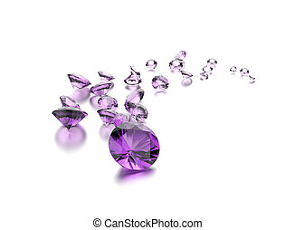 Amethyst. Jewelry background. Gemstone
