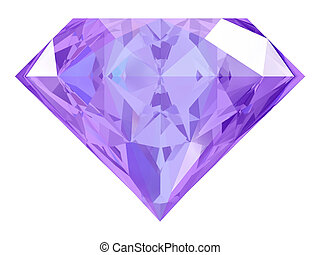 amethyst on white background (high resolution 3D image)