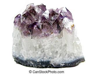 amethyst quartz geode geological crystals