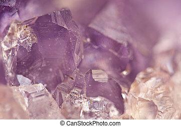 ametist, är, violett, ombyte, av, kvarts, ofta, använd, in,...