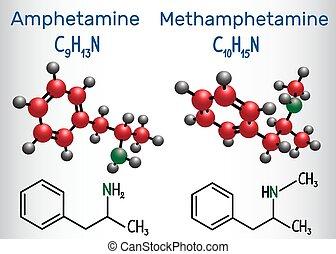 Amfetamine (amphetamine, C9H13N) and Methamphetamine...