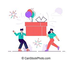 ami, anniversaire, heureux, célébration, fête