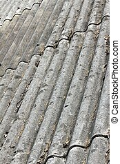 amianto, vecchio, tetto