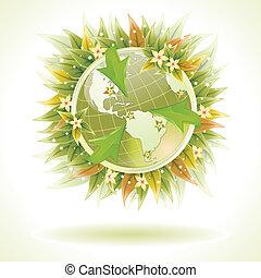 amical, concept, écologiquement, -