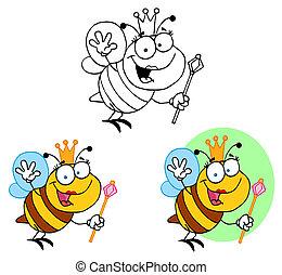 amical, reine abeilles