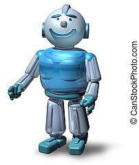 amichevole, robot