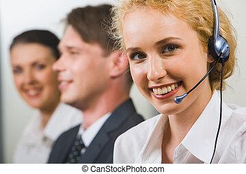 amichevole, sostegno cliente, servizio
