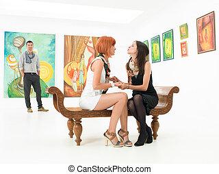 amici, arte, due, meglio, galleria