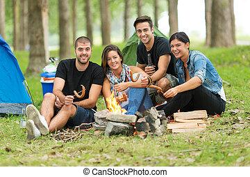 amici, campeggio