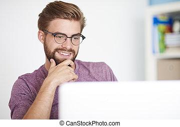 amici, via, computer, contattare