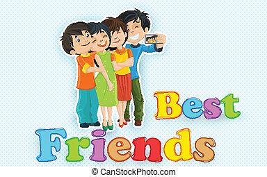 amicizia, giorno, felice