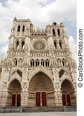 Amiens cathedral in all its glory, after restauration; France