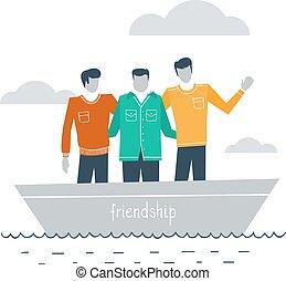 amigos íntimos, juntos