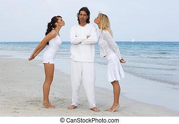 amigos, en la playa