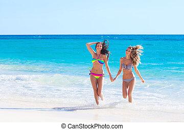 amigos, férias, femininas