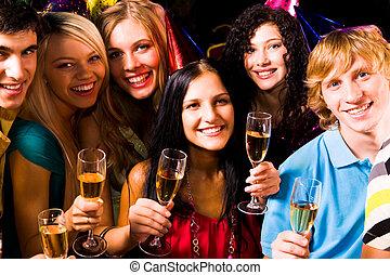 amigos, partying