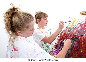 amigos, pintura