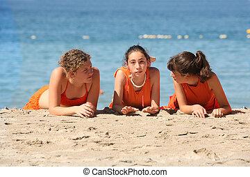 amigos, praia