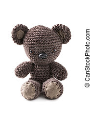 Amigurumi brown bear