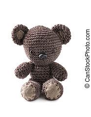 amigurumi, oso marrón