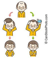 amincir, progrès, cheveux, countermeasures