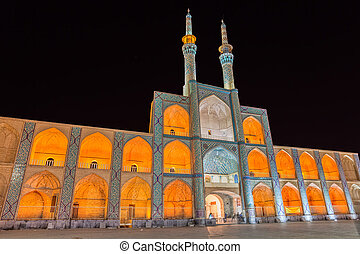Amir Chakhmaq Complex in Yazd by night - Beautiful building...