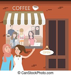 Beau restaurant jeune directeur invit s femme caf - Directeur de restaurant ...
