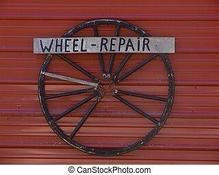 Amish Advertising - Amish advertising - wheel repair