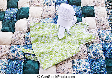 Amish apron and bonnet
