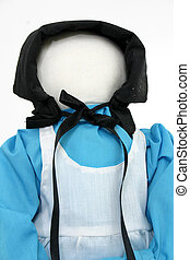 Amish Doll in Blue - Handmade Amish doll in blue.